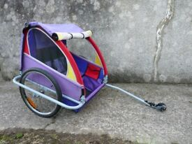 Vantly Bicycle Trailer. Two Seater. Clean & Tidy. With Hitch. Folds Flat.