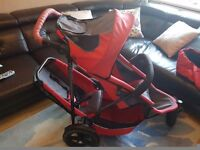 Phil and Teds double red sports pram/pushchair