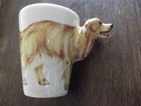 Golden Retriever Mug, 3D, by Blue Witch pottery. dog mug, Labrador
