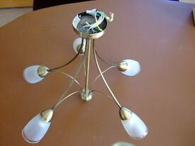 Matching set of 1 x ceiling and 3 x wall lights - bronze effect