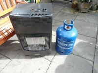 Calor Gas Portable Heater - Including 3/4 full bottle. First Class Condition