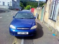 Chevrolet Lacetti 1.6 SX, not Toyota, nissan, ford, volkswagen, BMW.