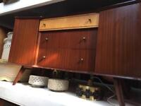 Vintage retro teak wooden mid century chest of drawers sideboard credenza 50s 60s