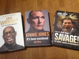 3x football autobiographies