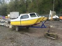 14ft Fishing Boat On Trailer