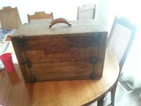 Vintage Black and Decker wooden Chest tool box