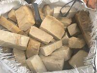 Sandstone coloured building stone