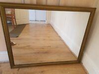 Very big wooden mirror
