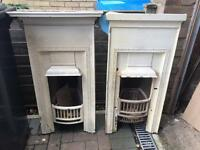2 x Victorian fireplaces