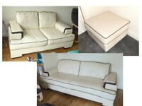 Set of two matching SOFAS & one FOOTSTOOL