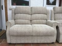 Small settee and matching reclining chair
