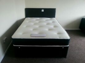 BRAND NEW Beds with memory foam & orthopaedic mattresses, single Beds £ 75 each double £ 99 king -