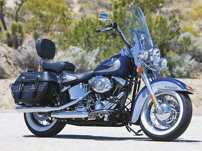 "Harley Davidson Heritage/FatBoy OEM height 20"" Lexan polycarb. clear windshield"