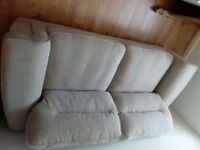 Large Oak Land Sofa. Kirby range. Beige colour, excellent condition. buyer to collect.