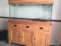 Aqua Oak 150cm aquarium complete with accessories