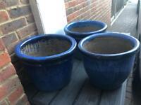 Ceramic garden pots - various sizes