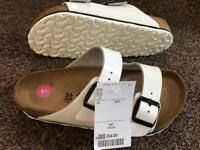Birkenstock sandals in white - new