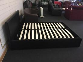 Brand New Leather Effect Double Ottoman Bed