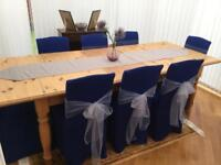 Pine Dining Table & Eight Chairs