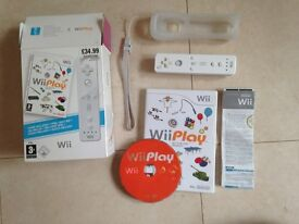 Nintendo Wii play with controller.