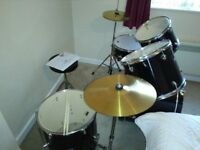 Professional Performance Percussion Drum Kit, including throne and sticks