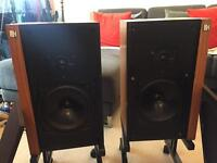 Kef Corelli speakers with stands
