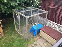 For sale, 8'x8'x8' cat pen - or for chickens, aviary, dog... Also a 6'x3'x6' pen