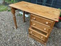 Desk solid pine excellent condition