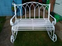 Lovely 3 seater rocking bench seat in (white)