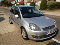Cheap Ford Fiesta ghia - leather seats, five seater car