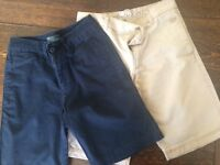 BOYS' SHORTS - AGE 8 YRS - RALPH LAUREN AND CREW CLOTHING