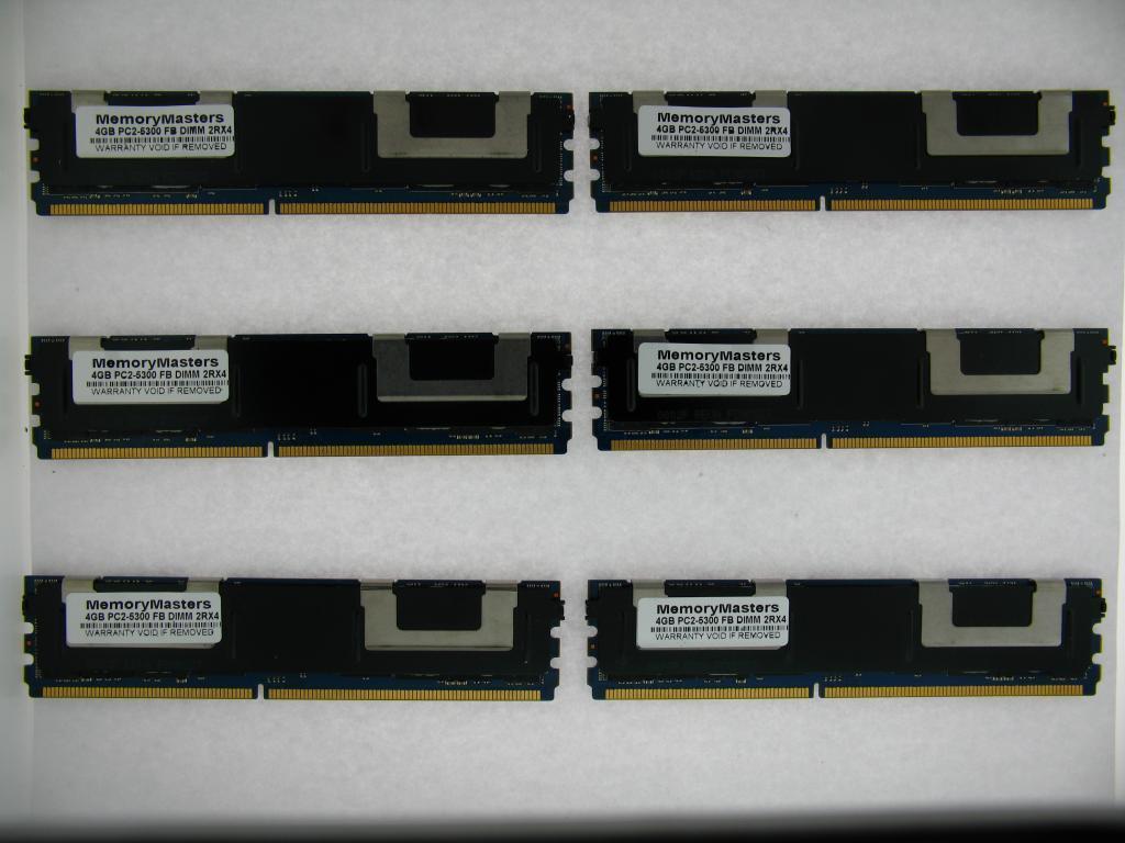 NOT FOR PC NEW 24GB 6x4GB MEMORY PC2-5300 ECC FB-DIMM HP Compaq xw6600