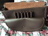 Brown leather hunter's bag