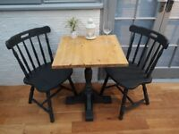 Lovely Solid Wood Bistro/Cafe/Mate's/Farmhouse Chairs in Annie Sloan Graphite. £20 each, 2 for £35.