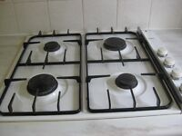 AEG 4 BURNER GAS HOB IN WHITE ENAMEL