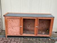 Large Rabbit Hutch and waterproof winter cover