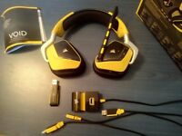 Corsair VOID 7.1 Special Edition RGB USB Wireless PC Gaming Headset Yellow-Jacket