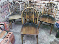 Ercol Fleur De Lys Dining Chairs X4 shabby chic project