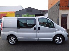 NO VAT! Finance me.. Vauxhall Vivaro swb 6 seat factory fitted crew van 1 owner from new F/S/H (2)