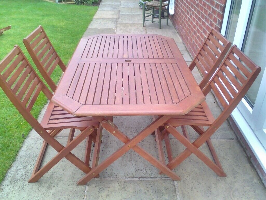 Garden table and 4 chairs york