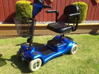 mini 4 mobility scooter comes apart to put in a car just had service bargain £260 no timewasters