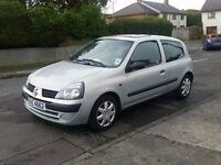 2002 RENAULT CLIO DCI DIESEL - £30 TAX - P/X TRADE IN WELCOME