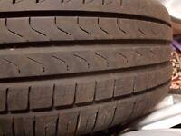 BMW 5 Series F10 Run flat Tyres 225 55 17 with original alloys