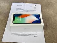 IPHONE X SILVER 64gb, ON VODAFONE BRAND NEW BOXED UNUSED, WITH APPLE WARRANTY, MAY SWAP