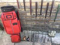 Set of golf clubs & bag