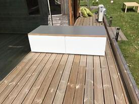 White Ikea kitchen base units