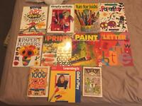 Selection of various children's arts and crafts books used but good condition