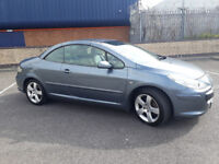 2006(56)PEUGEOT 307CC 2.0 HDi SPORT MET GREY,LEATHER,ELECTRIC ROOF,6 SPEED,LONG MOT,CHEAP CAR