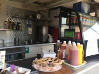 Food Trailer Burger Van 12x6 ft. Fully Equipped with Site included on Sale