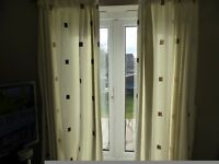 lined curtains with tie backs